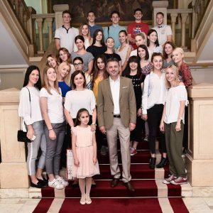 Mayor's reception for best graduating class of Banja Luka's Grammar School
